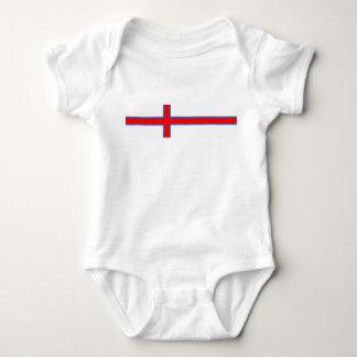 Body Para Bebê símbolo longo da bandeira de país de Faroe Island