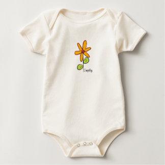 Body Para Bebê Simplifique: Uma flor lunática em um orgânico
