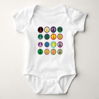 Body Para Bebê Sinais de paz coloridos - teste padrão do sinal de