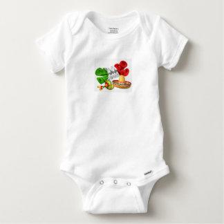 Body Para Bebê Sinal de Cinco De Mayo com Sombrero e Maracas