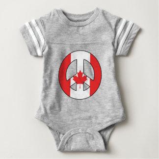 Body Para Bebê Sinal de paz canadense