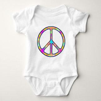 Body Para Bebê Sinal de paz psicadélico completo