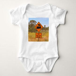 Body Para Bebê Sinal locomotivo do motor do trem, Austrália