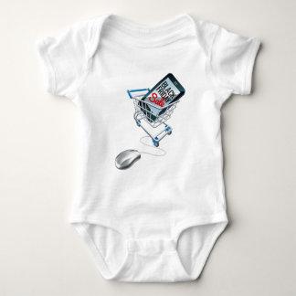 Body Para Bebê Sinal preto do rato do trole do telefone da venda