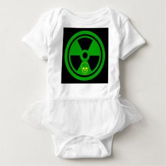 Body Para Bebê Sinal radioativo do cuidado com crânio