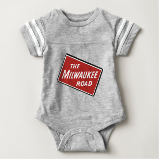 Body Para Bebê Sinal Railway 2 da estrada de Milwaukee