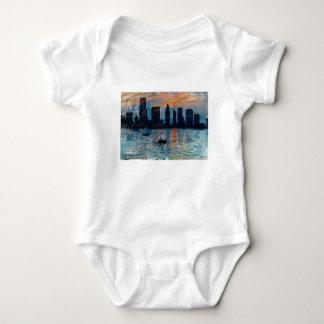 Body Para Bebê Skyline 7 de Miami