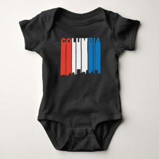 Body Para Bebê Skyline branca e azul vermelha de Colômbia South