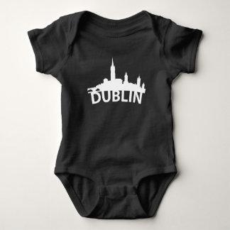 Body Para Bebê Skyline curvada de Dublin Ireland