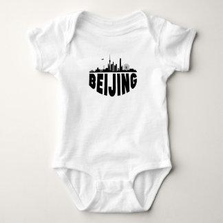 Body Para Bebê Skyline da arquitectura da cidade de Beijing China
