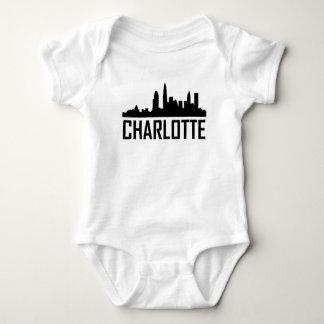 Body Para Bebê Skyline da cidade de Charlotte North Carolina