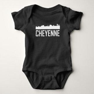 Body Para Bebê Skyline da cidade de Cheyenne Wyoming