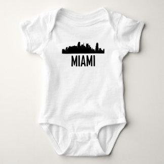 Body Para Bebê Skyline da cidade de Miami Florida