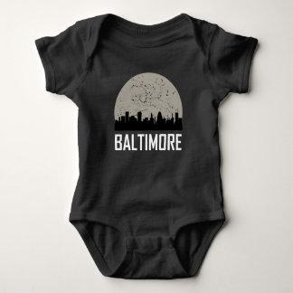 Body Para Bebê Skyline da Lua cheia de Baltimore