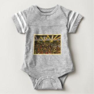 Body Para Bebê Skyline da Nova Iorque do vintage