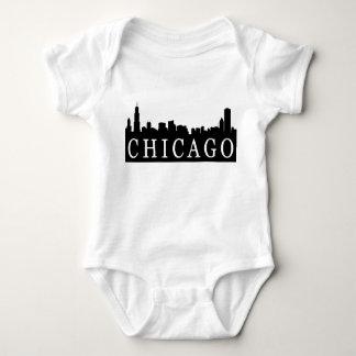Body Para Bebê Skyline de Chicago