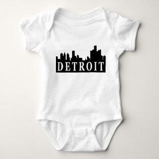 Body Para Bebê Skyline de Detroit