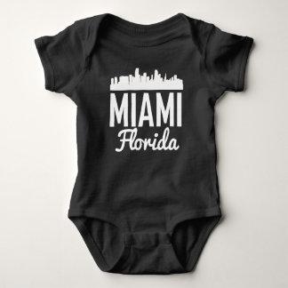 Body Para Bebê Skyline de Miami Florida