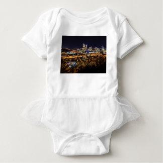 Body Para Bebê Skyline de Pittsburgh na noite