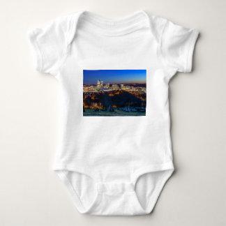 Body Para Bebê Skyline de Pittsburgh no por do sol