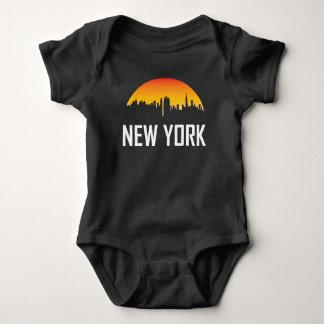 Body Para Bebê Skyline do por do sol da Nova Iorque