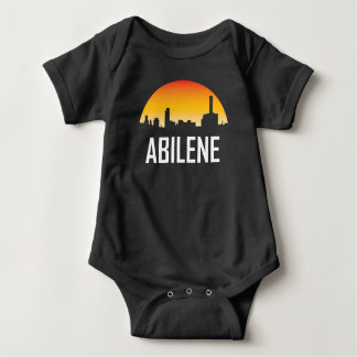 Body Para Bebê Skyline do por do sol de Abilene Texas