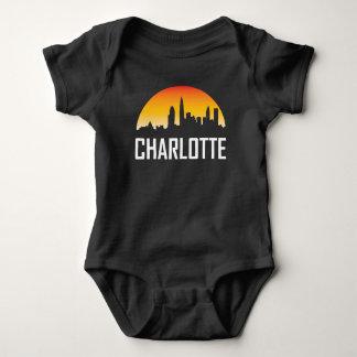 Body Para Bebê Skyline do por do sol de Charlotte North Carolina