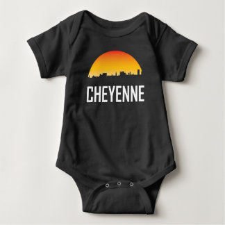 Body Para Bebê Skyline do por do sol de Cheyenne Wyoming