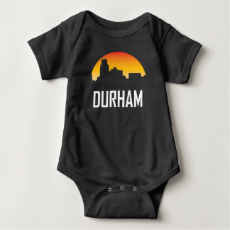 Body Para Bebê Skyline do por do sol de Durham North Carolina