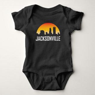 Body Para Bebê Skyline do por do sol de Jacksonville Florida