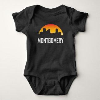 Body Para Bebê Skyline do por do sol de Montgomery Alabama
