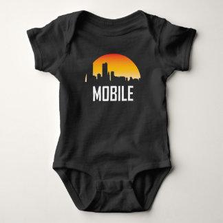 Body Para Bebê Skyline móvel do por do sol de Alabama
