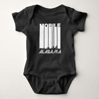 Body Para Bebê Skyline móvel retro de Alabama