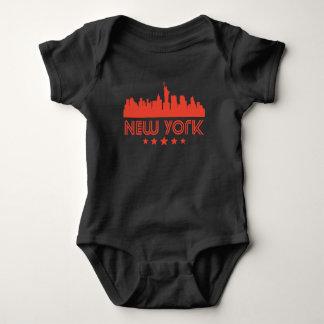 Body Para Bebê Skyline retro da Nova Iorque