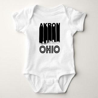 Body Para Bebê Skyline retro de Akron Ohio