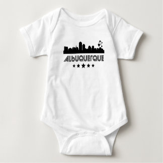 Body Para Bebê Skyline retro de Albuquerque