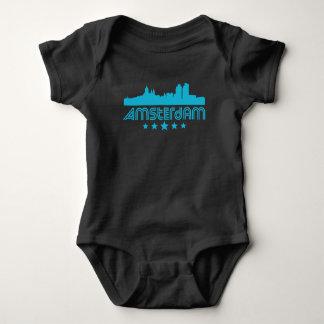 Body Para Bebê Skyline retro de Amsterdão