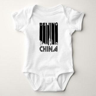Body Para Bebê Skyline retro de Beijing