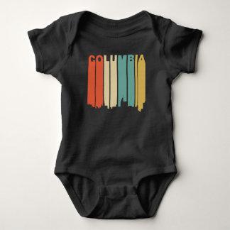 Body Para Bebê Skyline retro de Colômbia Missouri do estilo dos