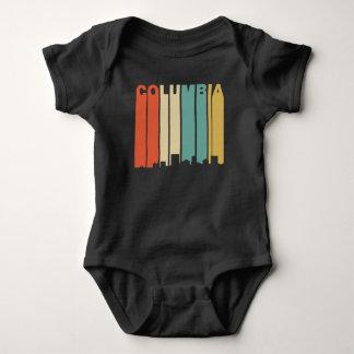 Body Para Bebê Skyline retro de Colômbia South Carolina do estilo