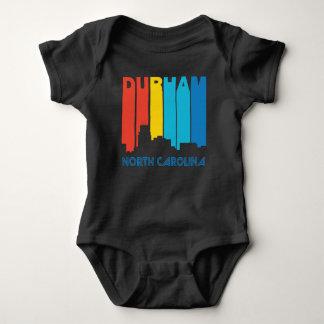 Body Para Bebê Skyline retro de Durham North Carolina do estilo