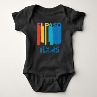Body Para Bebê Skyline retro de El Paso Texas do estilo dos anos