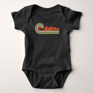 Body Para Bebê Skyline retro de Florida do Fort Lauderdale do