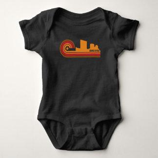 Body Para Bebê Skyline retro de Grand Rapids Michigan do estilo