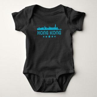 Body Para Bebê Skyline retro de Hong Kong
