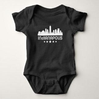 Body Para Bebê Skyline retro de Indianapolis