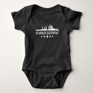 Body Para Bebê Skyline retro de Kuala Lumpur