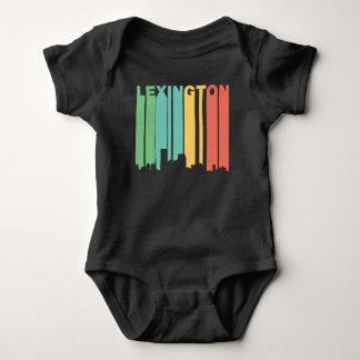 Body Para Bebê Skyline retro de Lexington Kentucky do estilo dos