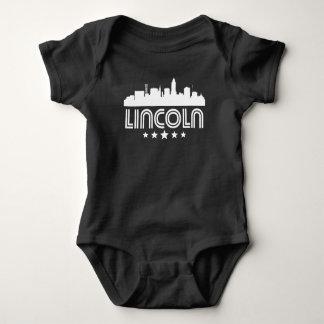 Body Para Bebê Skyline retro de Lincoln
