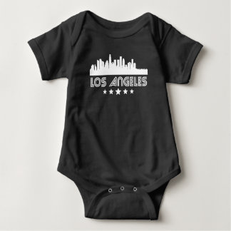 Body Para Bebê Skyline retro de Los Angeles